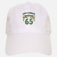 Life Begins At 65 Baseball Baseball Cap