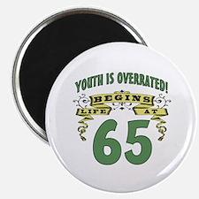 Life Begins At 65 Magnet