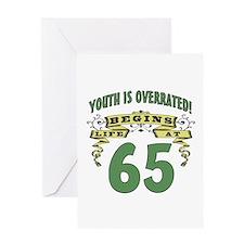 Life Begins At 65 Greeting Card
