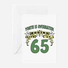 Life Begins At 65 Greeting Cards (Pk of 20)