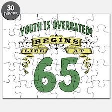 Life Begins At 65 Puzzle