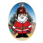Shriner in the desert Masonic Oval Ornament