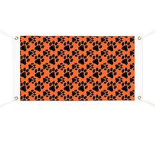 Dog Paws Clemson Orange Banner