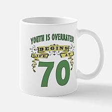 Life Begins At 70 Mug