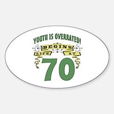 Life Begins At 70 Decal