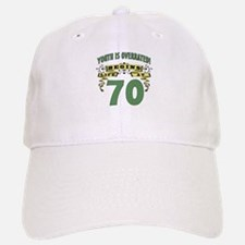 Life Begins At 70 Baseball Baseball Cap