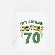 Life Begins At 70 Greeting Card