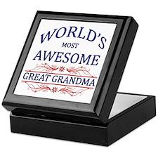 World's Most Awesome Great Grandma Keepsake Box