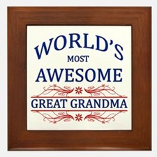 World's Most Awesome Great Grandma Framed Tile