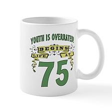 Life Begins At 75 Mug