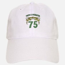 Life Begins At 75 Baseball Baseball Cap