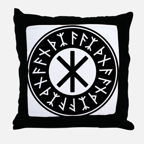 Odin's Protection No.1_2c Throw Pillow