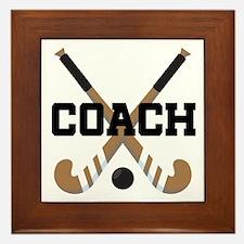 Field Hockey Coach Gift Framed Tile