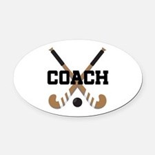 Field Hockey Coach Gift Oval Car Magnet