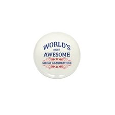 World's Most Awesome Great Grandfather Mini Button