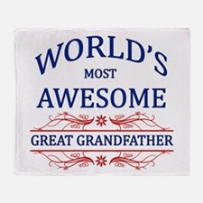 World's Most Awesome Great Grandfather Throw Blank