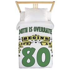 Life Begins At 80 Twin Duvet
