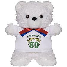 Life Begins At 80 Teddy Bear