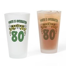 Life Begins At 80 Drinking Glass