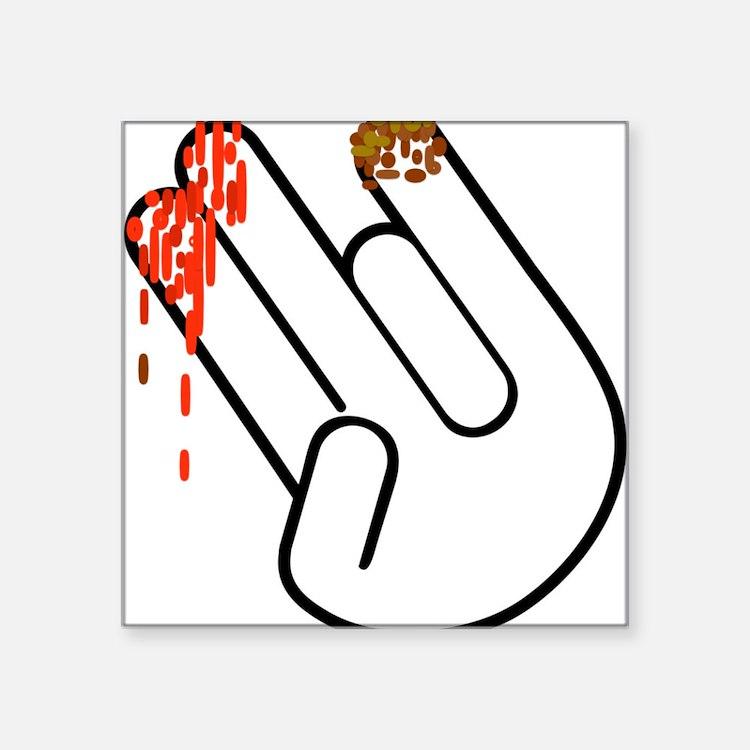 The Shocker Hand Sticker
