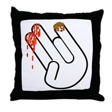 The Shocker Hand Throw Pillow