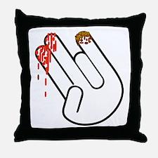 The Shocker Hand Throw Pillow