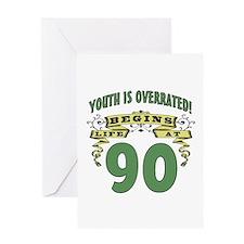 Life Begins At 90 Greeting Card