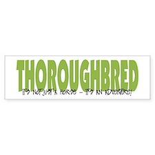 Thoroughbred ADVENTURE Bumper Bumper Sticker
