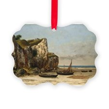 Gustave Courbet - Beach in Normandy Ornament