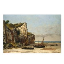 Gustave Courbet - Beach in Normandy Postcards (Pac