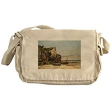Gustave Courbet - Beach in Normandy Messenger Bag