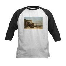 Gustave Courbet - Beach in Normandy Baseball Jerse