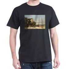 Gustave Courbet - Beach in Normandy T-Shirt