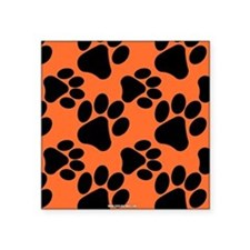 Dog Paws Clemson Orange Sticker