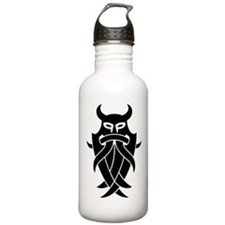 Odin's Mask Tribal Water Bottle