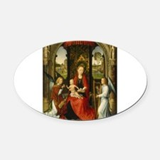 Hans Memling - Madonna and Child with Angels Oval