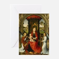 Hans Memling - Madonna and Child with Angels Greet