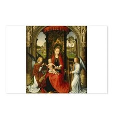 Hans Memling - Madonna and Child with Angels Postc