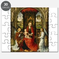 Hans Memling - Madonna and Child with Angels Puzzl