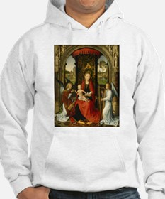 Hans Memling - Madonna and Child with Angels Hoodi