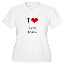I Love TURTLE BEACH Plus Size T-Shirt