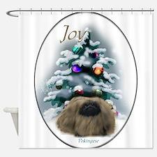 Pekingese Christmas Shower Curtain