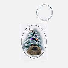 Pekingese Christmas Keychains
