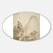 Hubert Robert - A Roman Capriccio with the Pyrami