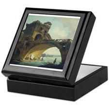 Hubert Robert - The Ponte Salario Keepsake Box