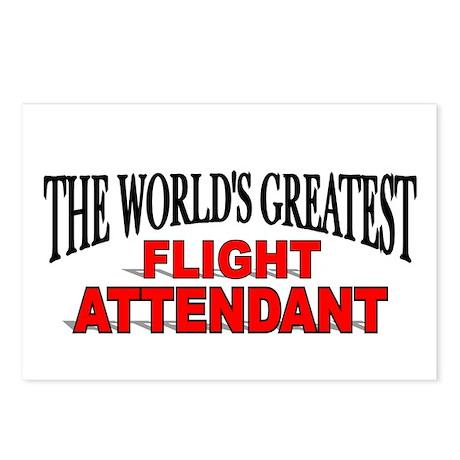 """The World's Greatest Flight Attendant"" Postcards"