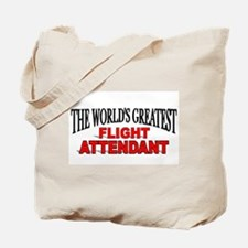 """The World's Greatest Flight Attendant"" Tote Bag"