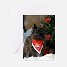 Cairn Terrier Merry Christmas Greeting Cards
