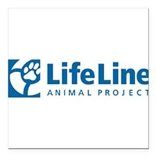 "LifeLine Animal Project Square Car Magnet 3"" x 3"""