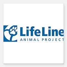 "LifeLine Animal Project Square Car Magnet 3"" x 3"""